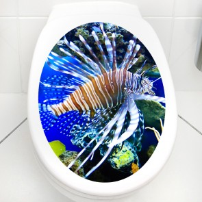 WC Aufkleber Feuerfisch