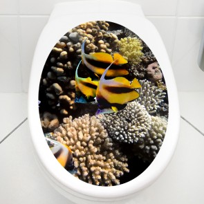 WC Aufkleber Schwarz-Gelbe Fische