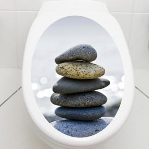 WC Aufkleber Stones