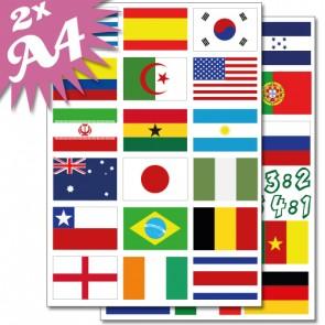 Wandsticker Flaggen