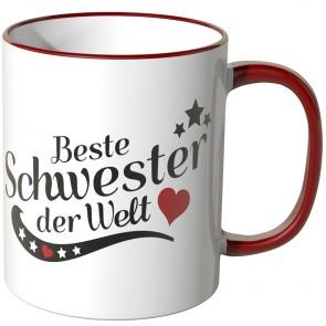 JUNIWORDS Tasse Beste Schwester der Welt