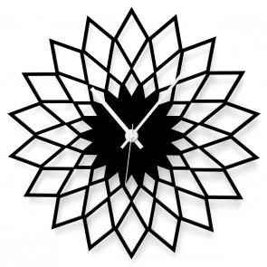 Wanduhr Blume