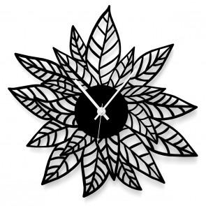 Wanduhr aus Blättern