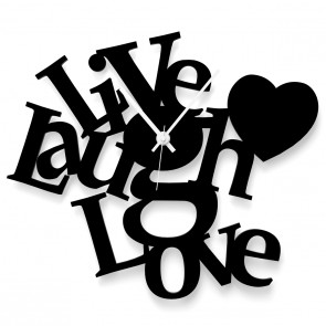 Wanduhr Live Laugh Love
