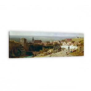 Altes Städtchen von Carl Spitzweg als Leinwandbild
