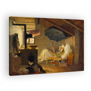 der arme Poet von Carl Spitzweg als Leinwandbild