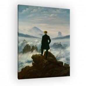 Der Wanderer über dem Nebelmeer auf Leinwand