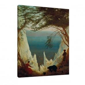 Die Kreidefelsen von Rügen von Caspar David Friedrich als Leinwandbild