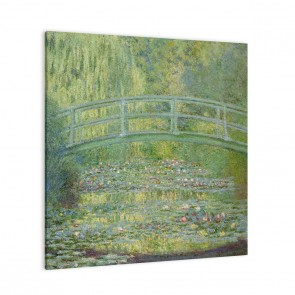 Seerosenteich und japanische Brücke von Claude Monet als Leinwandbild