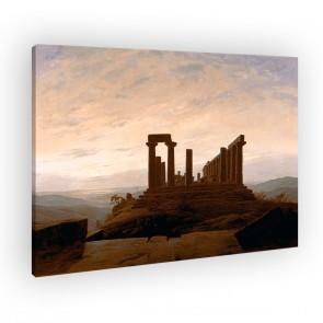 Der Junotempel in Agrigentvon Caspar David Friedrich als Leinwandbild