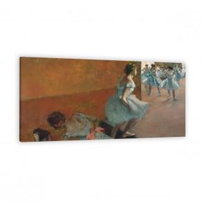 Tänzerinnen auf einer Treppe als Leinwandbild