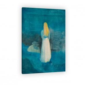 Mädchen am Strand von Edvard Munch als Leinwandbild