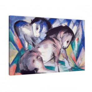 zwei Pferde von Franz Marc als Leinwandbild
