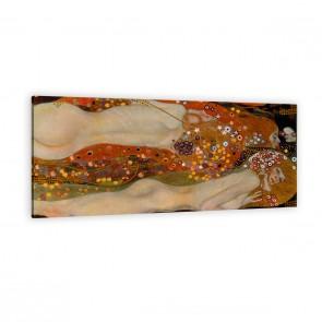 Wasserschlangen 2 von Gustav Klimt als Leinwandbild