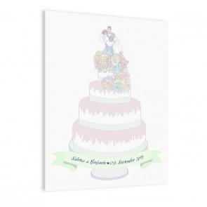 Leinwandbild zur Hochzeit Hochzeitstorte | individualisierbar