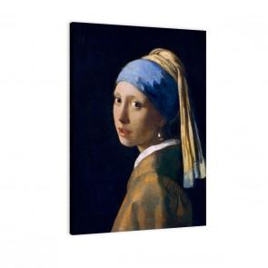das Mädchen mit dem Perlenohrgehänge von Jan Vermeer als Leinwandbild