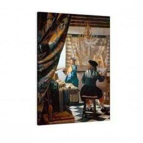 Leinwandbild Jan Vermeer - die Malkunst