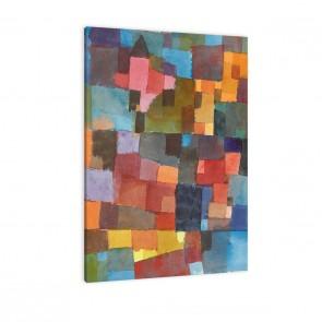 Raumarchitektur von Paul Klee als Leinwandbild zum aufhängen