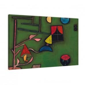Stillleben mit Pflanzen und Fenster von Paul Klee als Leinwandbild