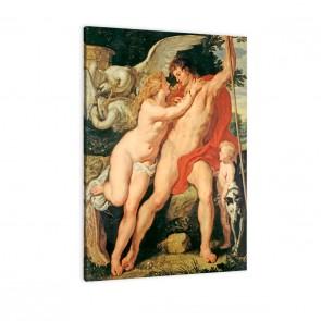 Venus und Adonis von Paul Peter Rubens als Leinwandbild