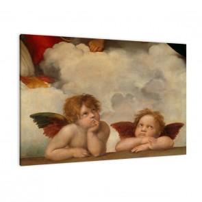 zwei Engel von Raffael als Leinwandbild