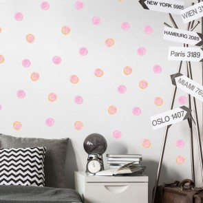 Wandsticker Set Mega - Watercolour Dots