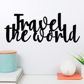 Wandwort Travel the world