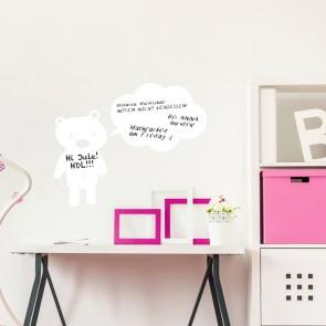 Whiteboard - Teddybär mit Sprechblase