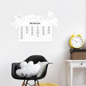 Whiteboard - Stundenplan Weltraum