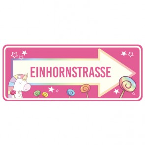 Wandsticker Einhornstraße