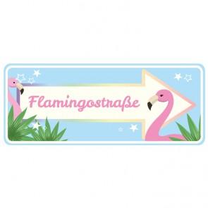 Wandsticker Flamingostraße