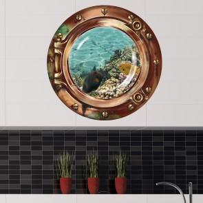 """Wandsticker Bullauge """"Bunte Fische unter Wasser"""""""