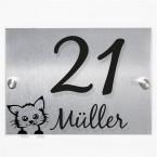 Seitenansicht Hausnummernschild