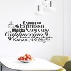 Wandtattoo Kaffee-Espresso Welt