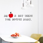 An apple a day Wandsticker