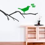 Vögelchen piept Wandtattoo
