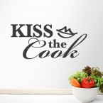 Kiss the cook Wandtatttoo