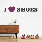 I LOVE SHOES Wandtattoo