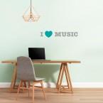 I LOVE MUSIC Wandtattoo