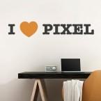 I LOVE PIXEL Wandtattoo