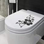 Design-WC-Deckel-Aufkleber Hibiskusblüten-Ranke