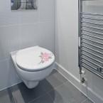 Rosenranke Toilettenaufkleber