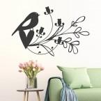 Ranke mit Vögelchen Wandtattoo
