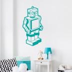 Roboter Wandtattoo