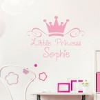 Wandtattoo Little Princess Wunschname