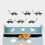 Lustige Autos Set Wandtattoo