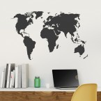 Weltkarte Wandtattoo