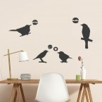lustige Vögel Wandtattoo Set