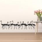 Flamingofamilie Wandtattoo