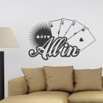 All in Poker Wandtattoo Spruch